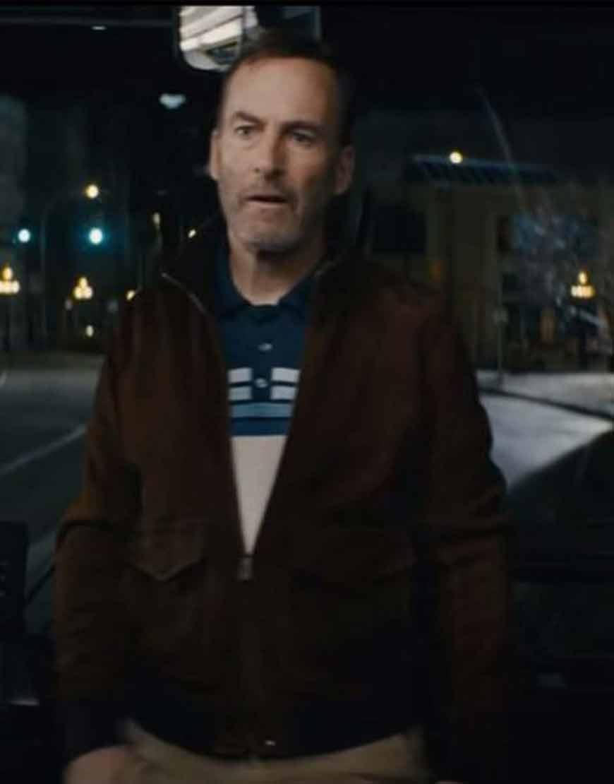 Bob-Odenkirk-Nobody-2021-Brown-Leather-Jacket