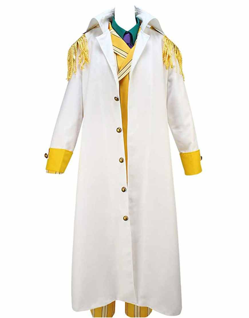 Borsalino One Piece Kizaru White Cosplay Coat