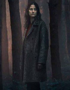 Danica-Curcic-Equinox-2021-Astrid-Brown-Tweed-Coat