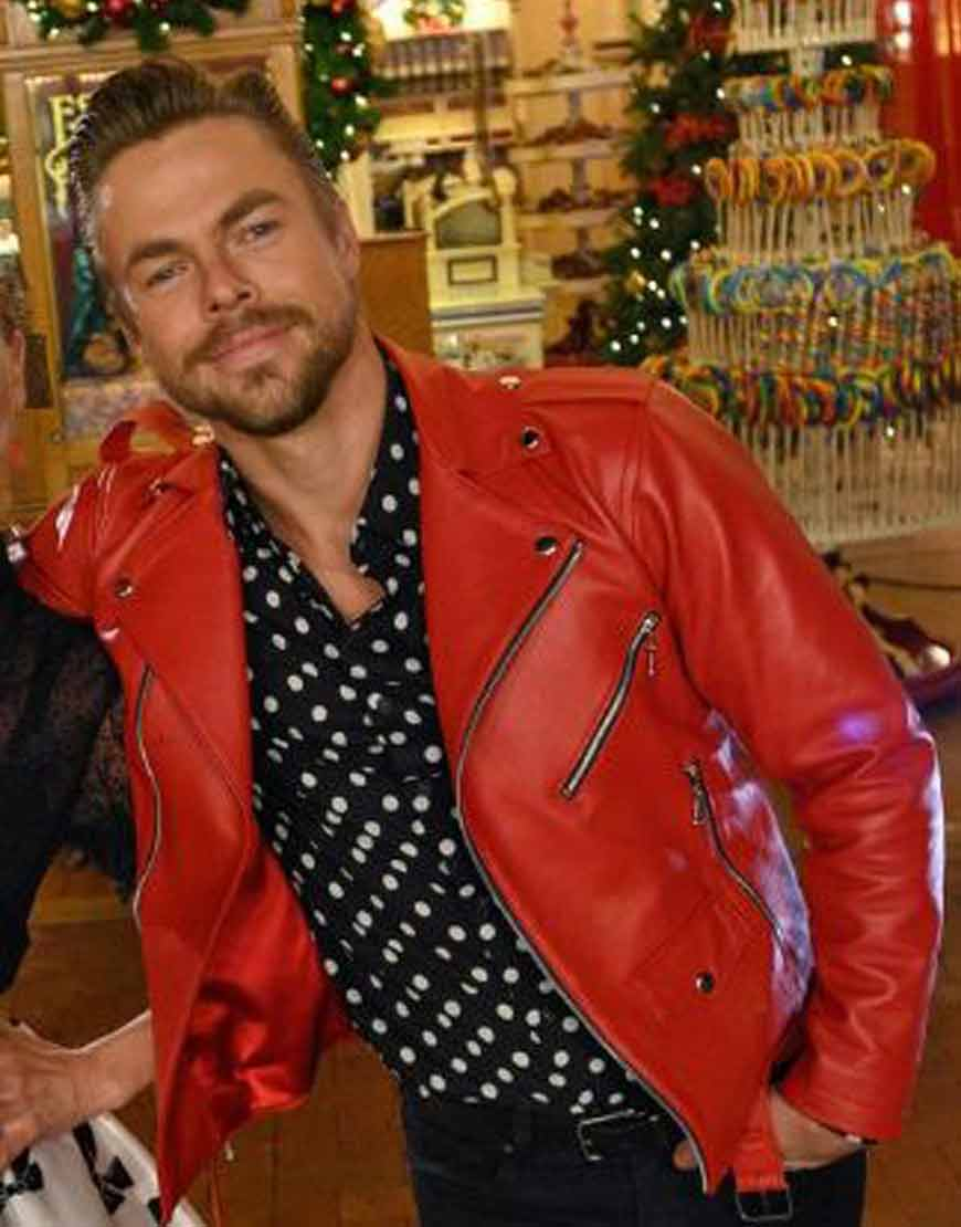 Disney's-Magical-Holiday-Celebration-Derek-Hough-Leather-Jacket