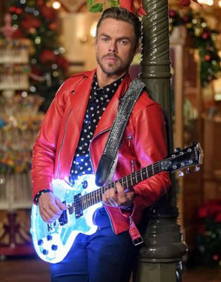 Disney's-Magical-Holiday-Celebration-Derek-Hough-Red-Jacket