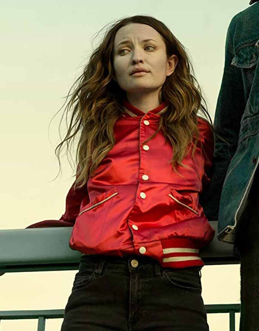 Emily-Browning-Laura-Moon-American-Gods-S02-Red-Bomber-Jacket