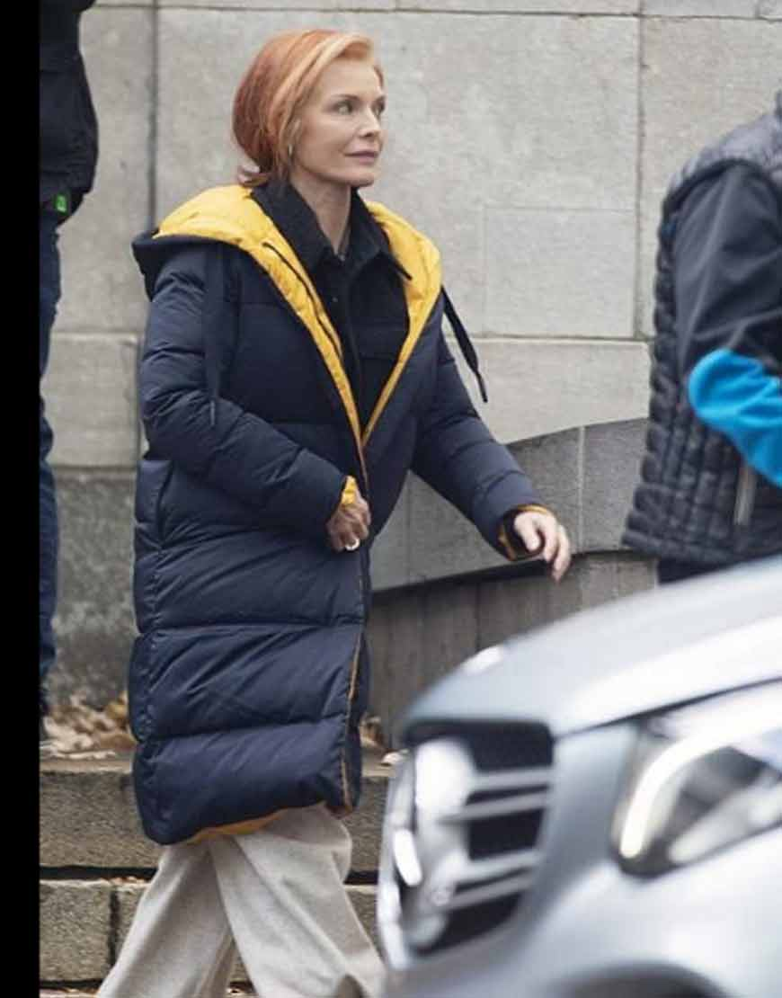 French-Exit-2021-Michelle-Pfeiffer-Puffer-Quilted-Coat