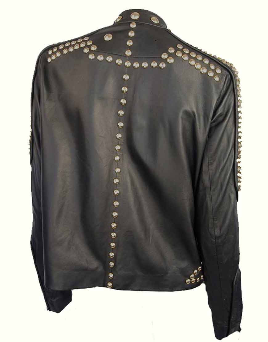 Golden-Studded-Black-Leather-Jacket