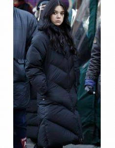 Hailee-Steinfeld-Hawkeye-Black-Puffer-Coat