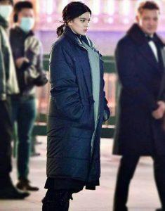 Hawkeye-Hailee-Steinfeld-Puffer-Black-Coat