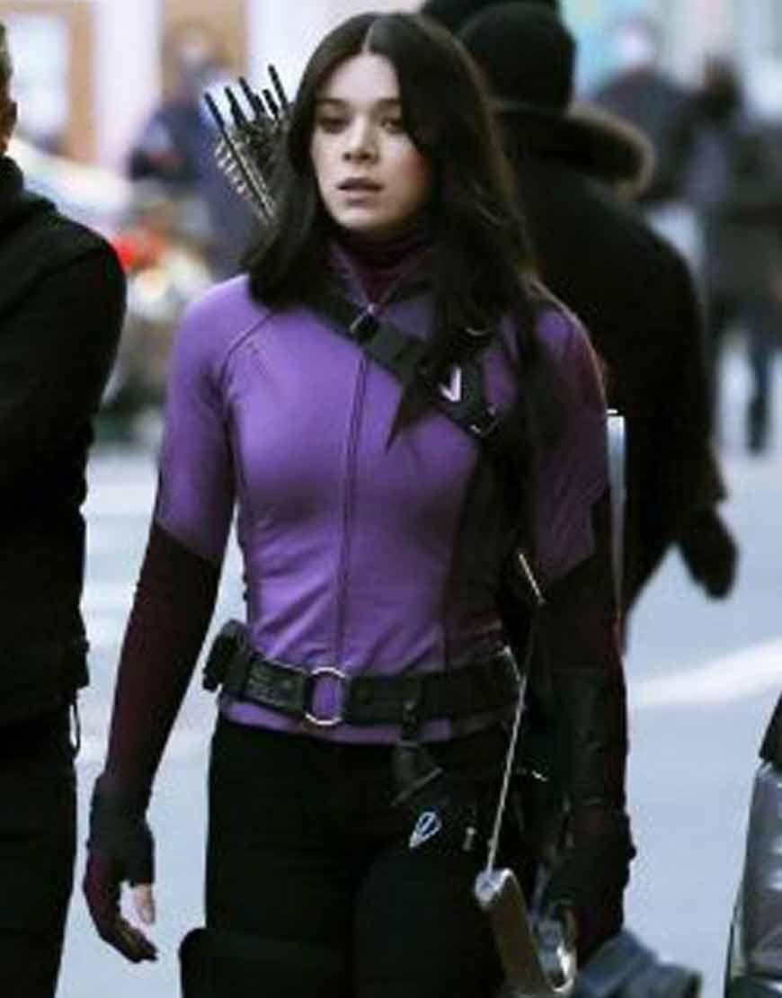 Hawkeye-Hailee-Steinfeld-Purple-Jacket