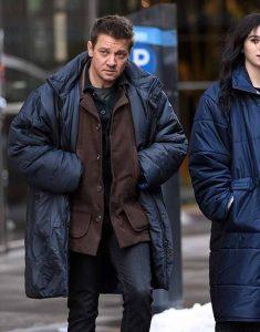 Hawkeye-Jeremy-Renner-Blue-Puffer-Coat