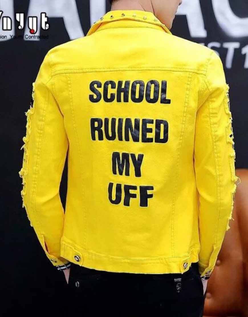 Hip-Hop-Style-School-Ruined-Leather-Jacket