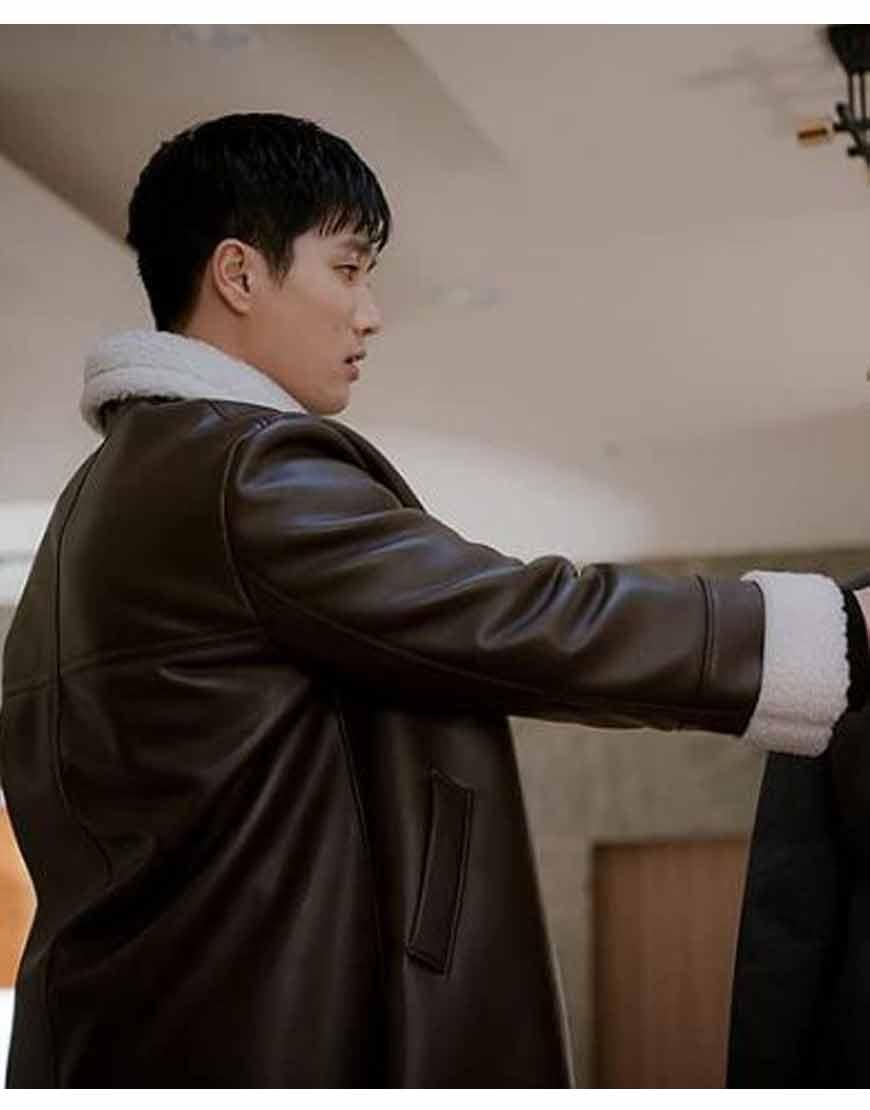 Itaewon-Class-Ahn-Bo-Hyun-Brown-Leather-Coat