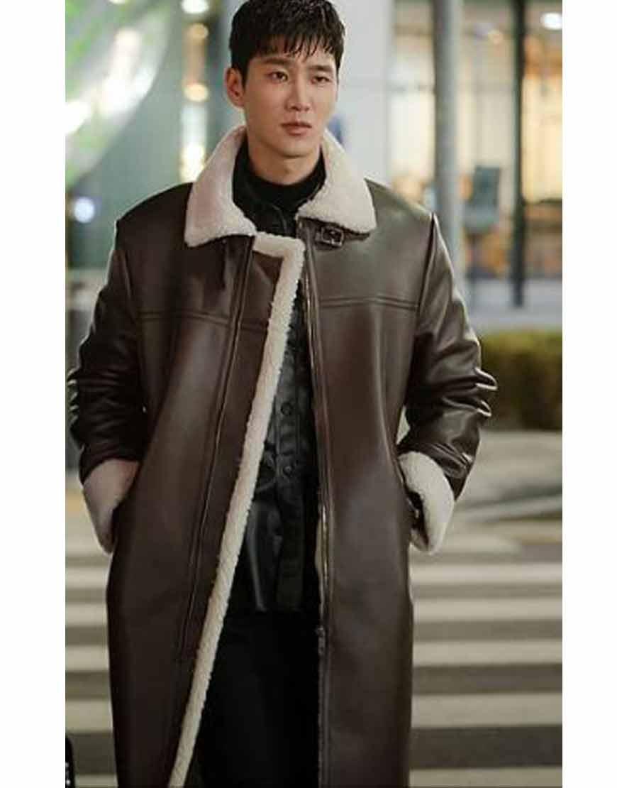 Itaewon-Class-Ahn-Bo-Hyun-Shearling-Brown-Leather-Coat