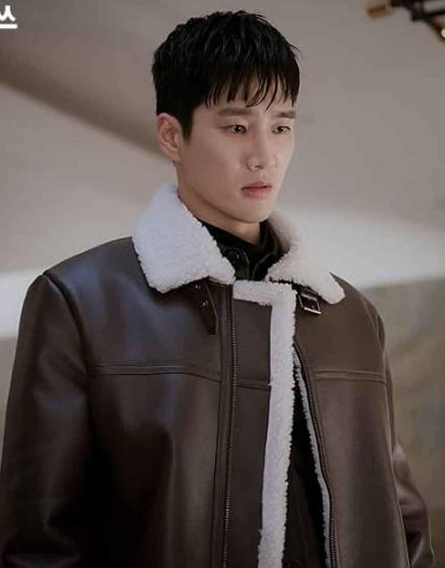 Itaewon-Class-Ahn-Bo-Hyun-Shearling-Leather-Coat
