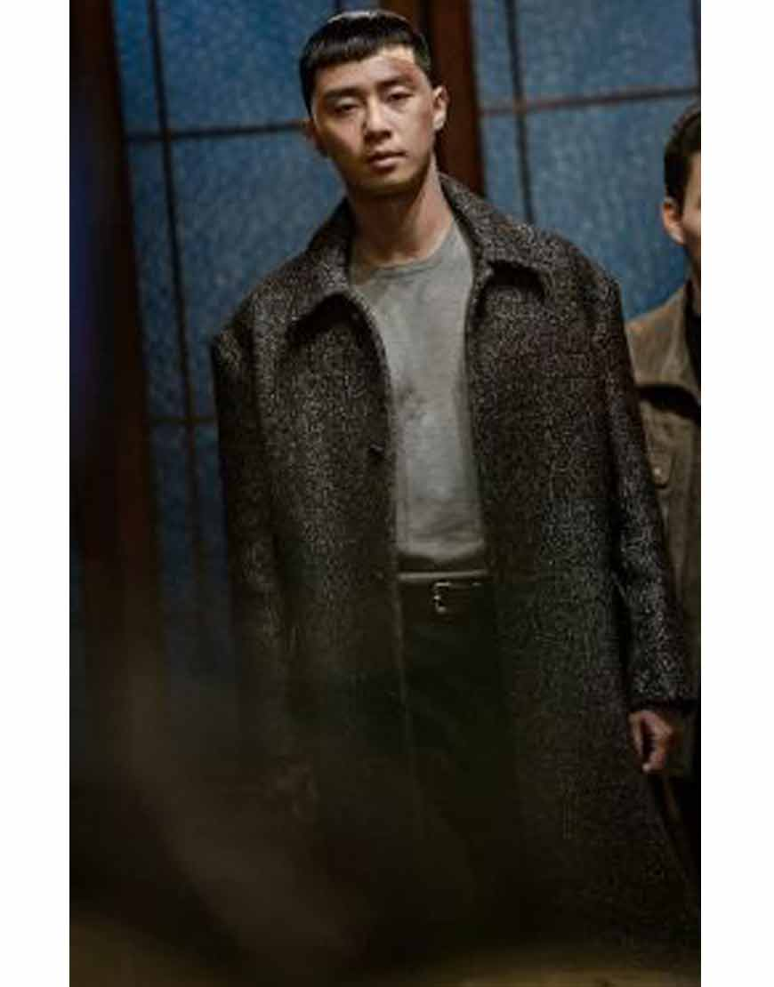 Itaewon-Class-Park-Seo-Joon-Trench-Dark-Grey-Coat