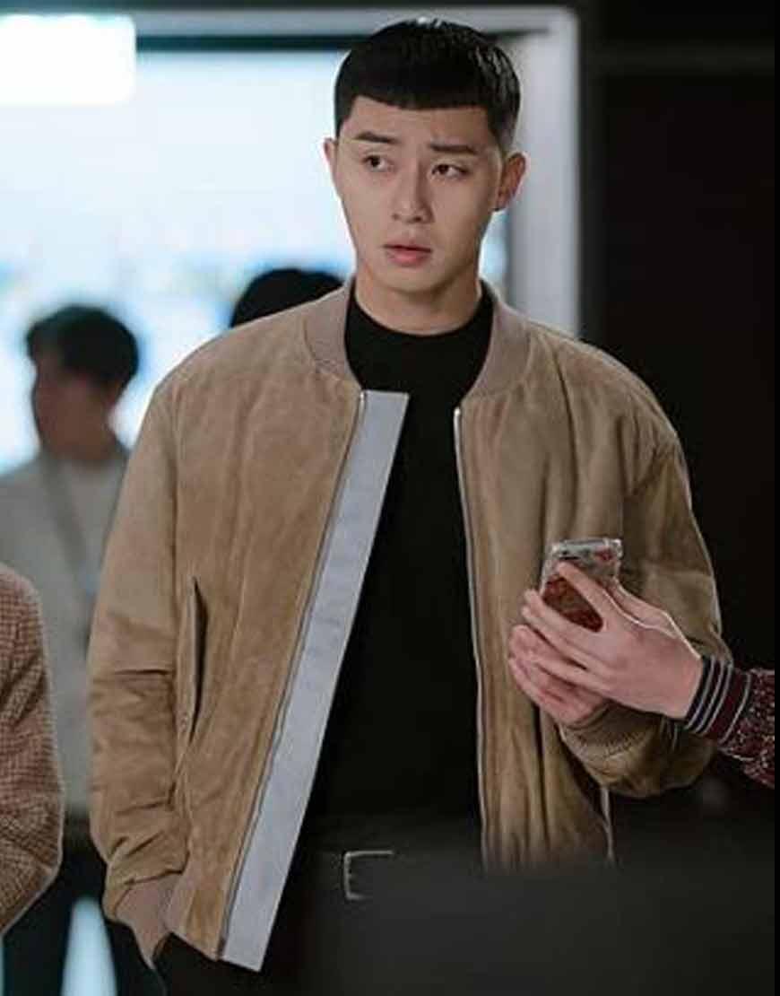 Itaewon-Class-Park-Seo-joon-Fawn-Bomber-Jacket
