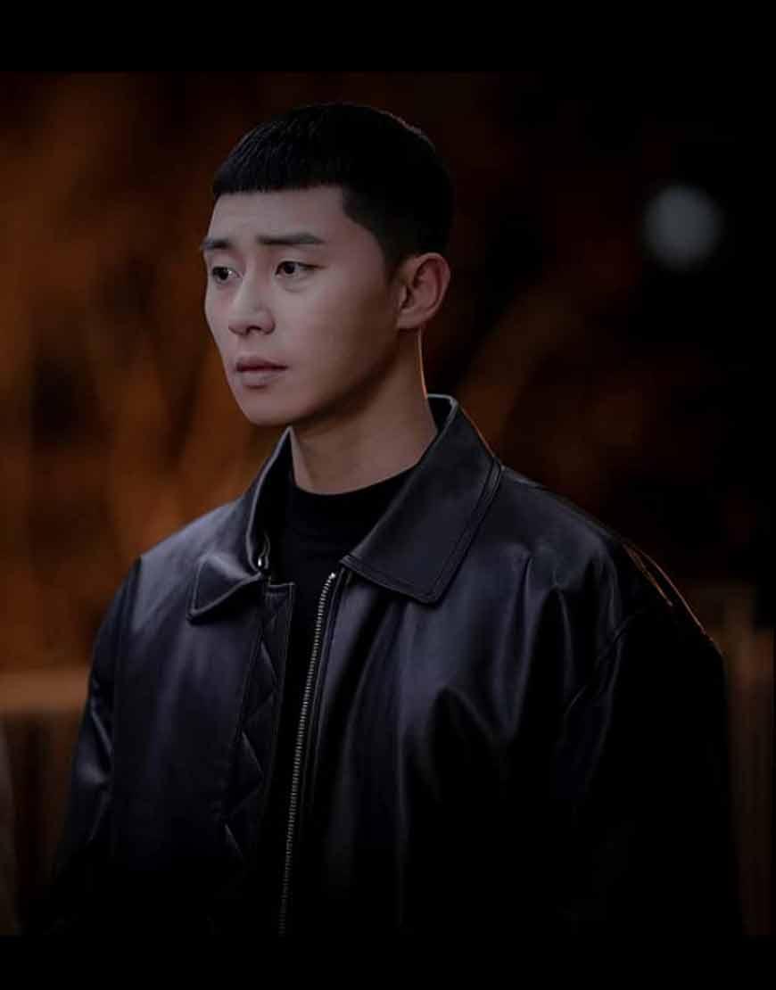Itaewon-Keullasseu-(2020)-Park-Seo-Joon-Leather-Jacket