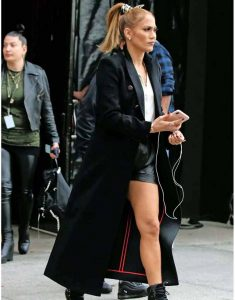 Jennifer-Lopez-Marry-Me-2021-Kat-Valdez-Black-Long0Trench-Coat