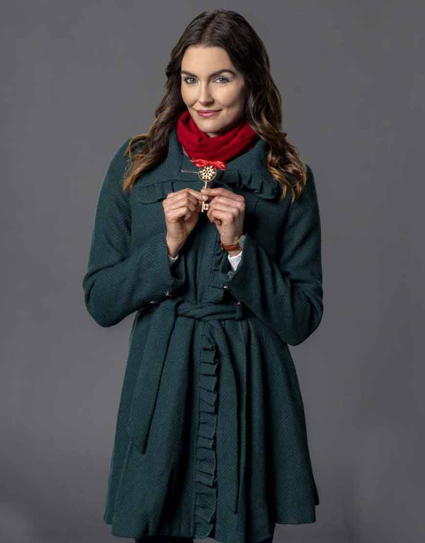 Kate-Unlocking-Christmas-Taylor-Cole-Green-Belted-Coat