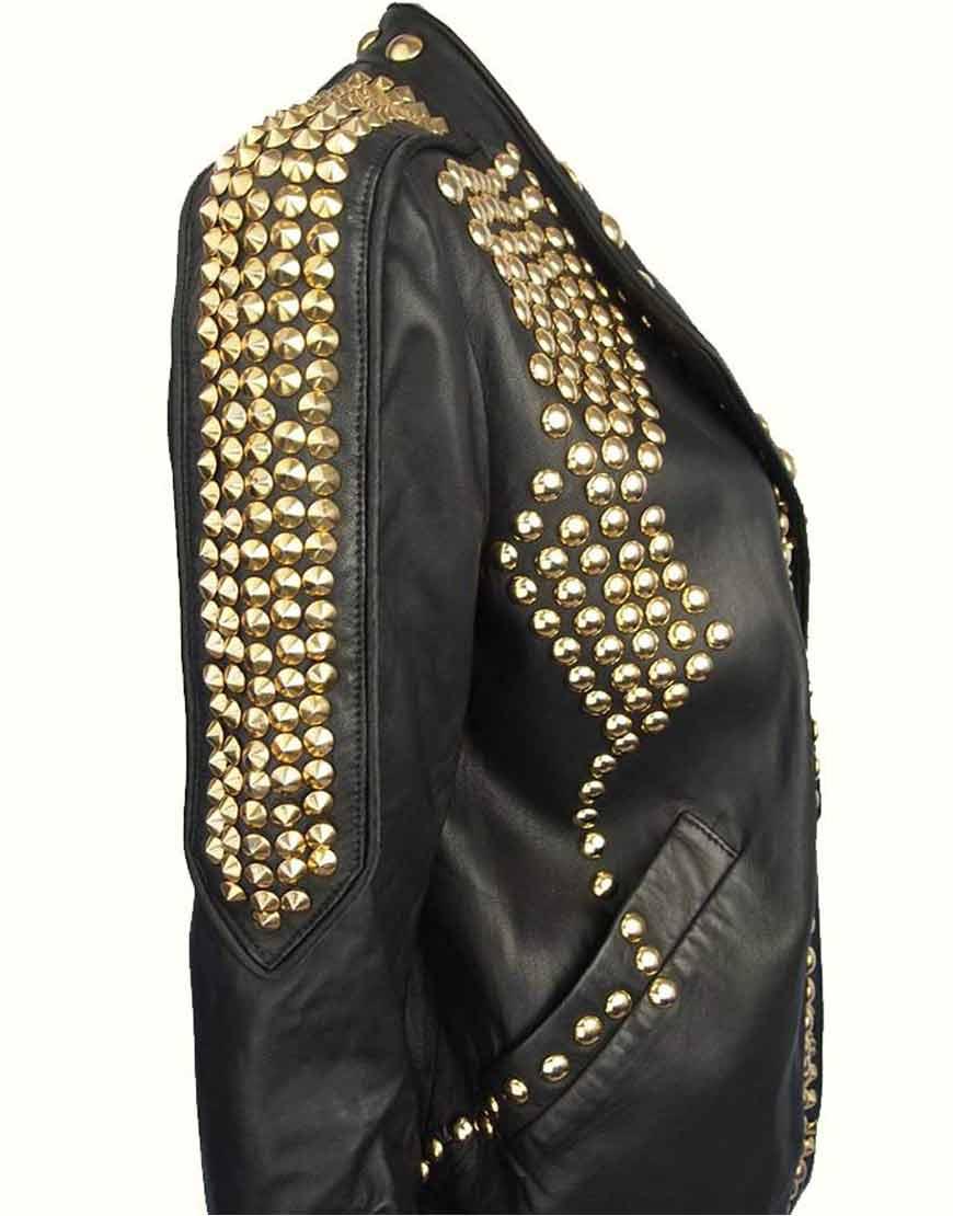 Kendall-Jenner-Golden-Studded-Jacket