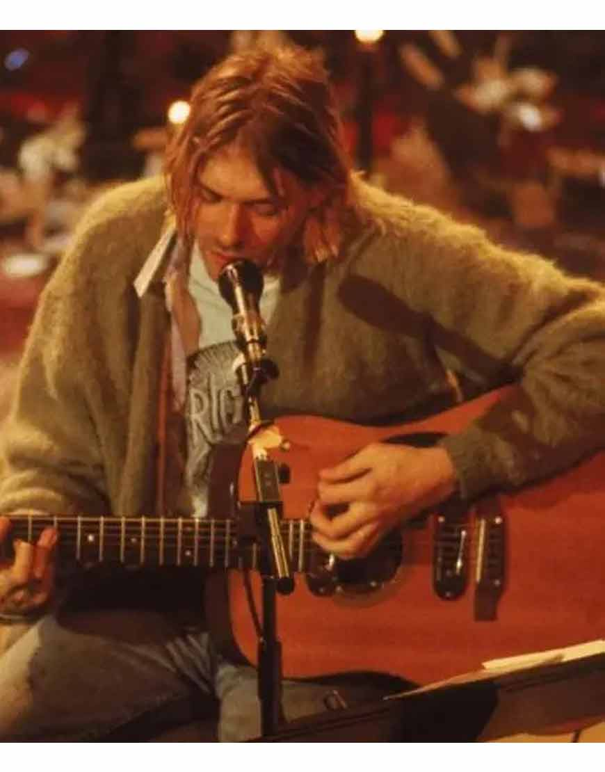 Kurt-Cobain-Grey-Cardigan