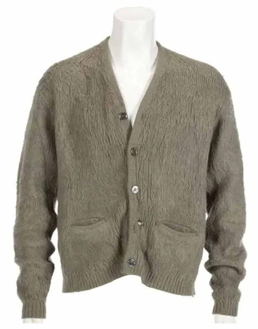 Kurt-Cobain-Grey-Fur-Cardigan