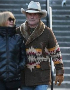 Kurt-Russell-Brown-Shearling-Coat