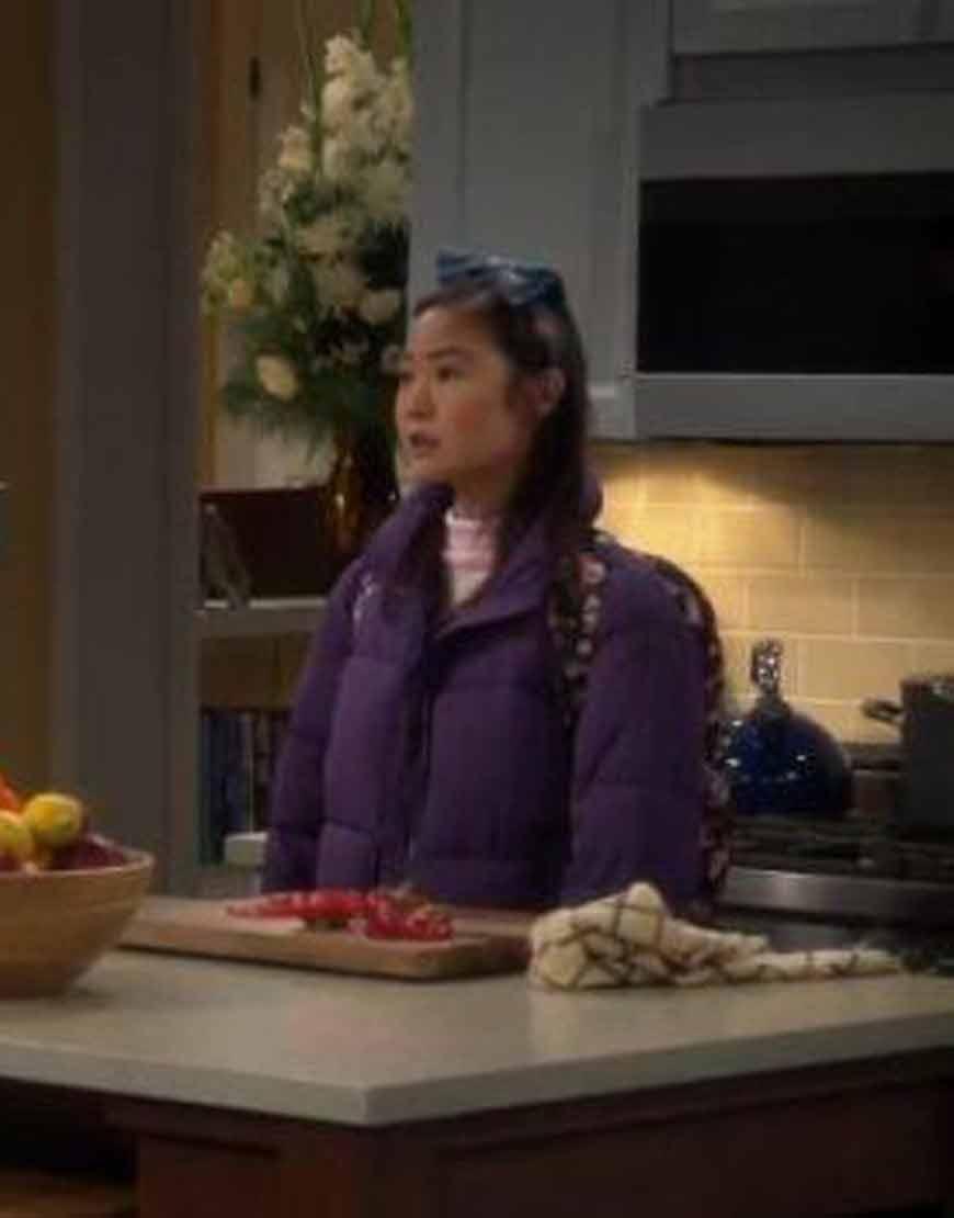 Last-Man-Standing-Krista-Marie-Yu-Purple-Padded-Jacket