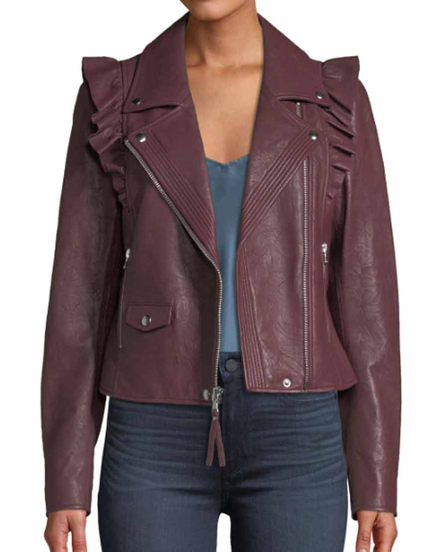Last-Man-Standing-Molly-McCook-Burgundy-Leather-jacket
