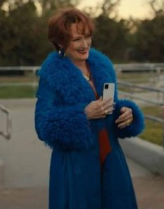 Meryl-Streep-The-Prom-Dee-Dee-Allen-Blue-Trench-Coat