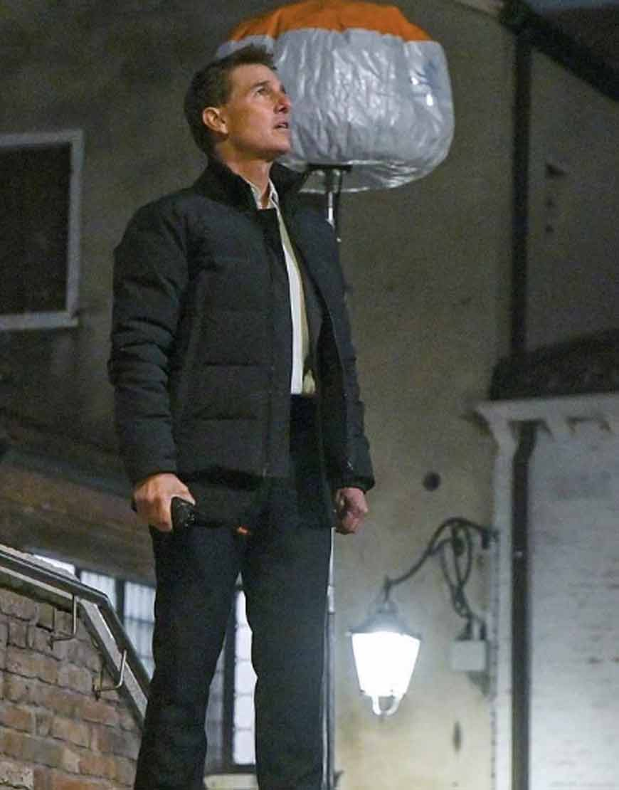 Mission-Impossible-7-Tom-Cruise-Black-Puffer-Jacket