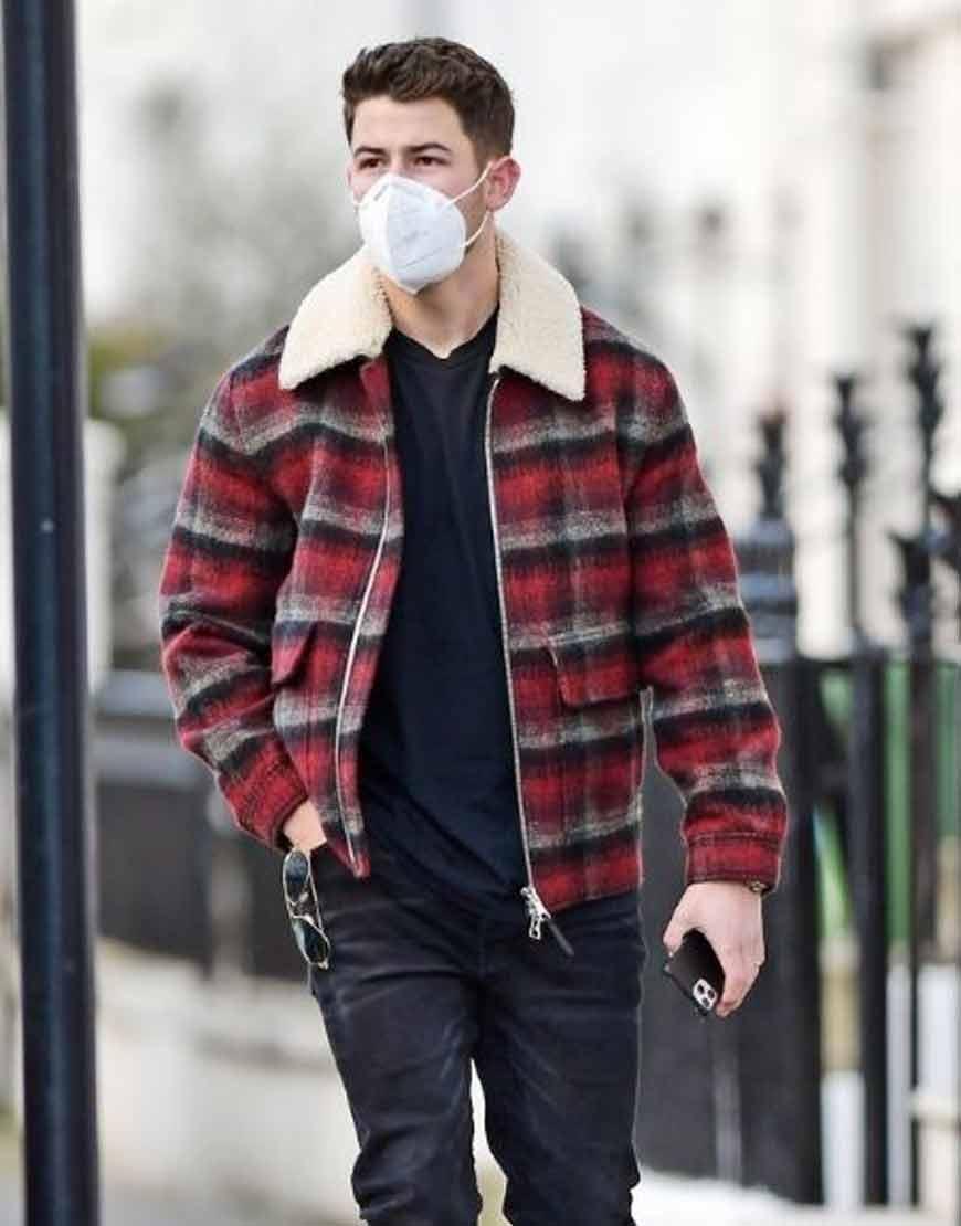 Nick-Jonas-Winter-Street-Style-London-Red-Plaid-Jacket