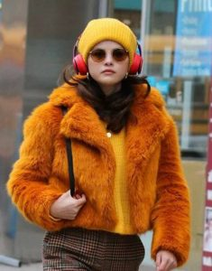 Only-Murders-in-the-Building-Selena-Gomez-Mustard-Fur-Jacket
