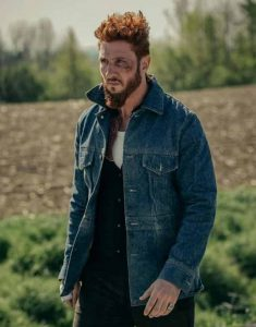 Pablo-Schreiber-American-Gods-Mad-Sweeney-Blue-Denim-Jacket