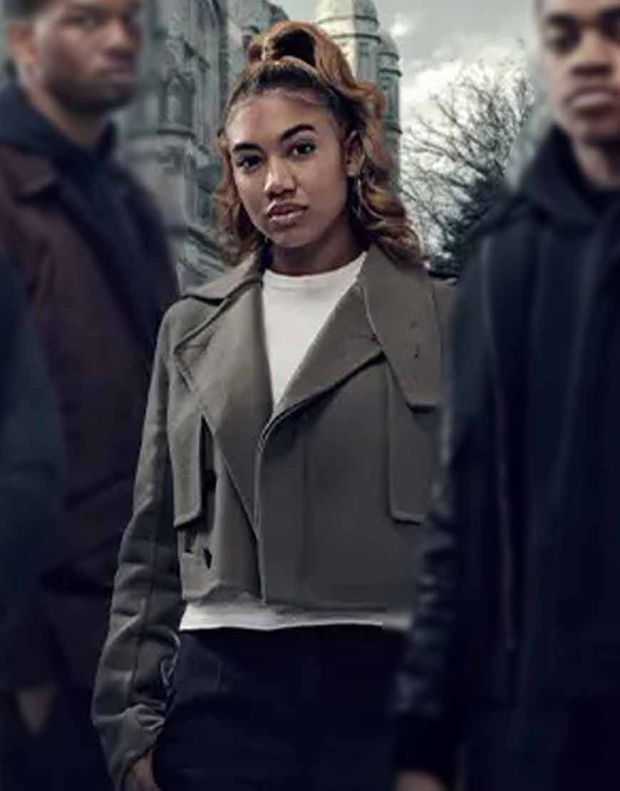 Paige-Hurd-TV-Series-Power-Book-II-Ghost-Lauren-Woolen-Jacket