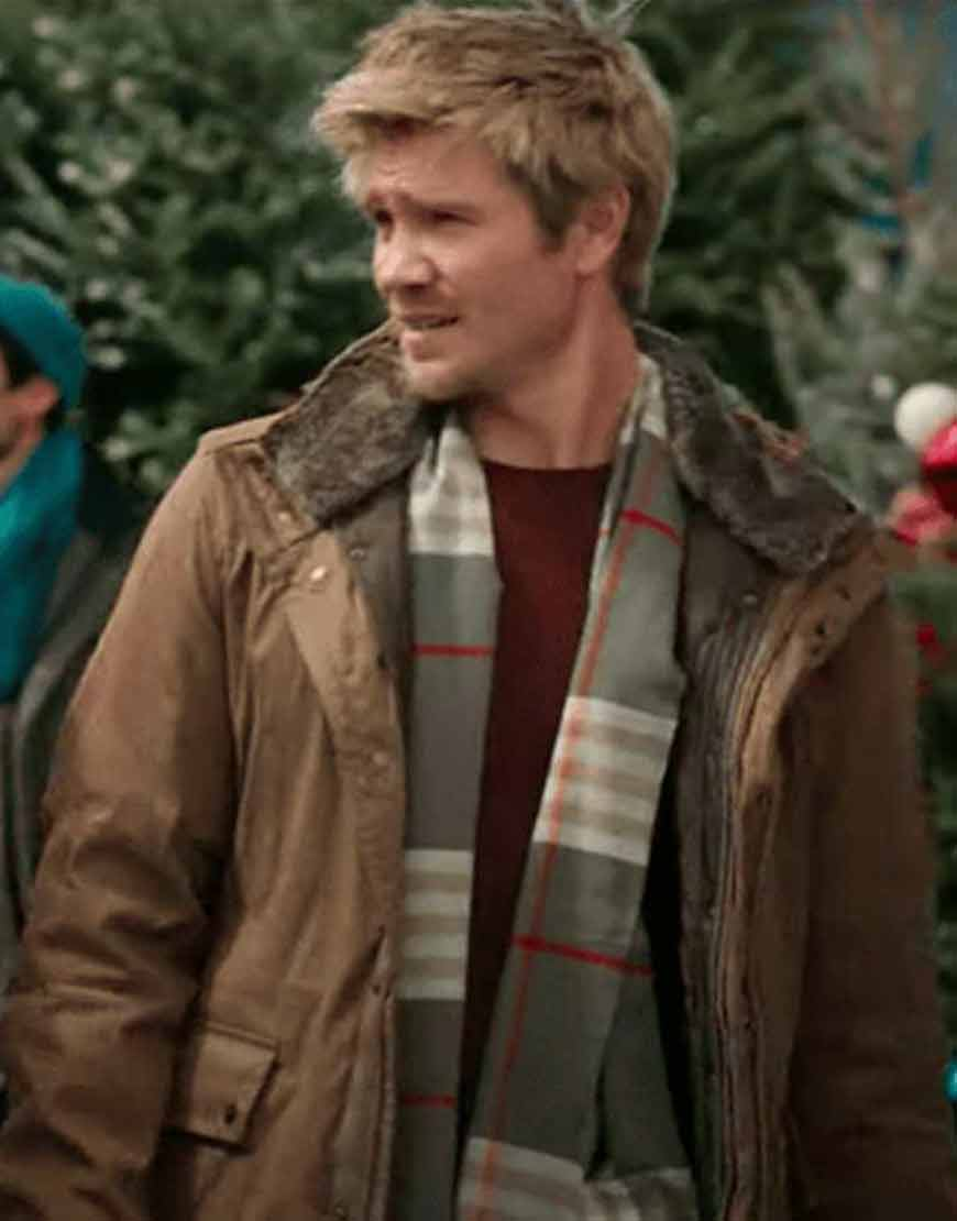 Paul-Barnett-Too-Close-For-Christmas-Chad-Michael-Murray-Brown-Jacket