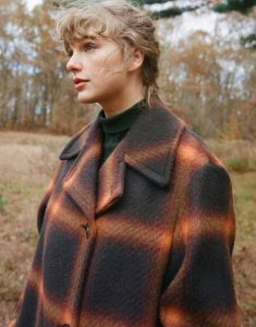 Taylor-Swift-Evermore-Orange-Black-Trench-Coat