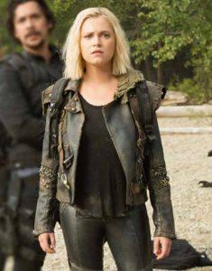 The-100-S07-Clarke-Griffin-Black-Jacket