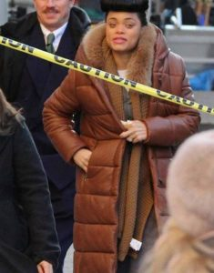 The-United-States-vs.-Billie-Holiday-Andra-Day-Brown-Quilted0Trench-Coat