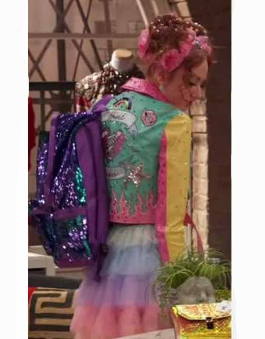 Tori-Kostic-Ravens-Home-S04-Sasha-Pastel-Block-Jacket
