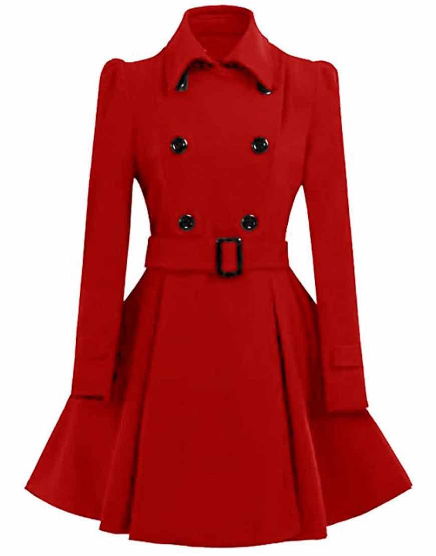 Women-Red-Swing-Pea-Coat