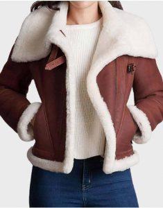 Womens-Brown-Sheepskin-Jacket