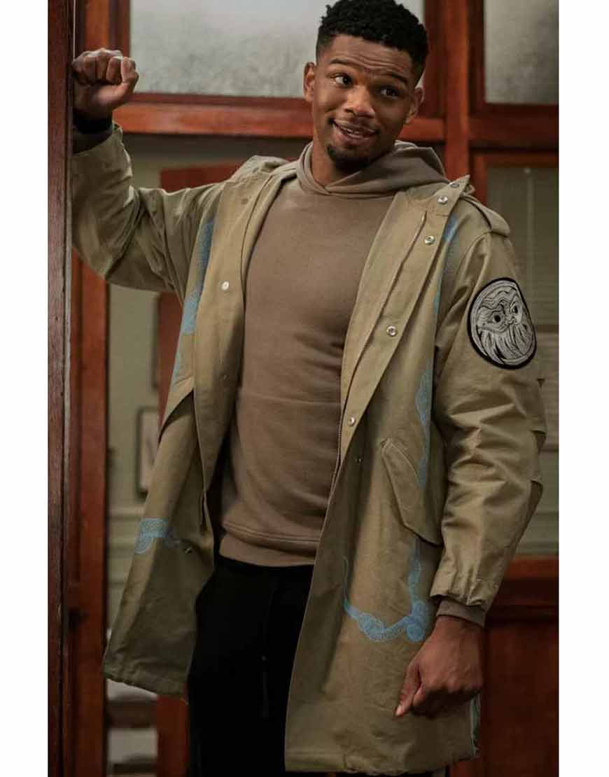 Zeke-Power-Book-II-Ghost-Daniel-Bellomy-Khaki-Polyester-Coat