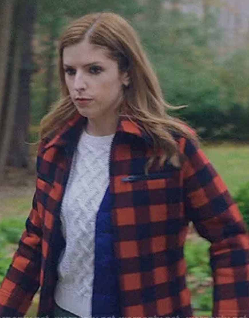 Anna-Kendrick-Love-life-Darby-Red-Checked-Jacket