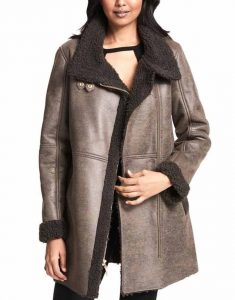 Asymmetrical-Faux-Grey-Shearling-Coat