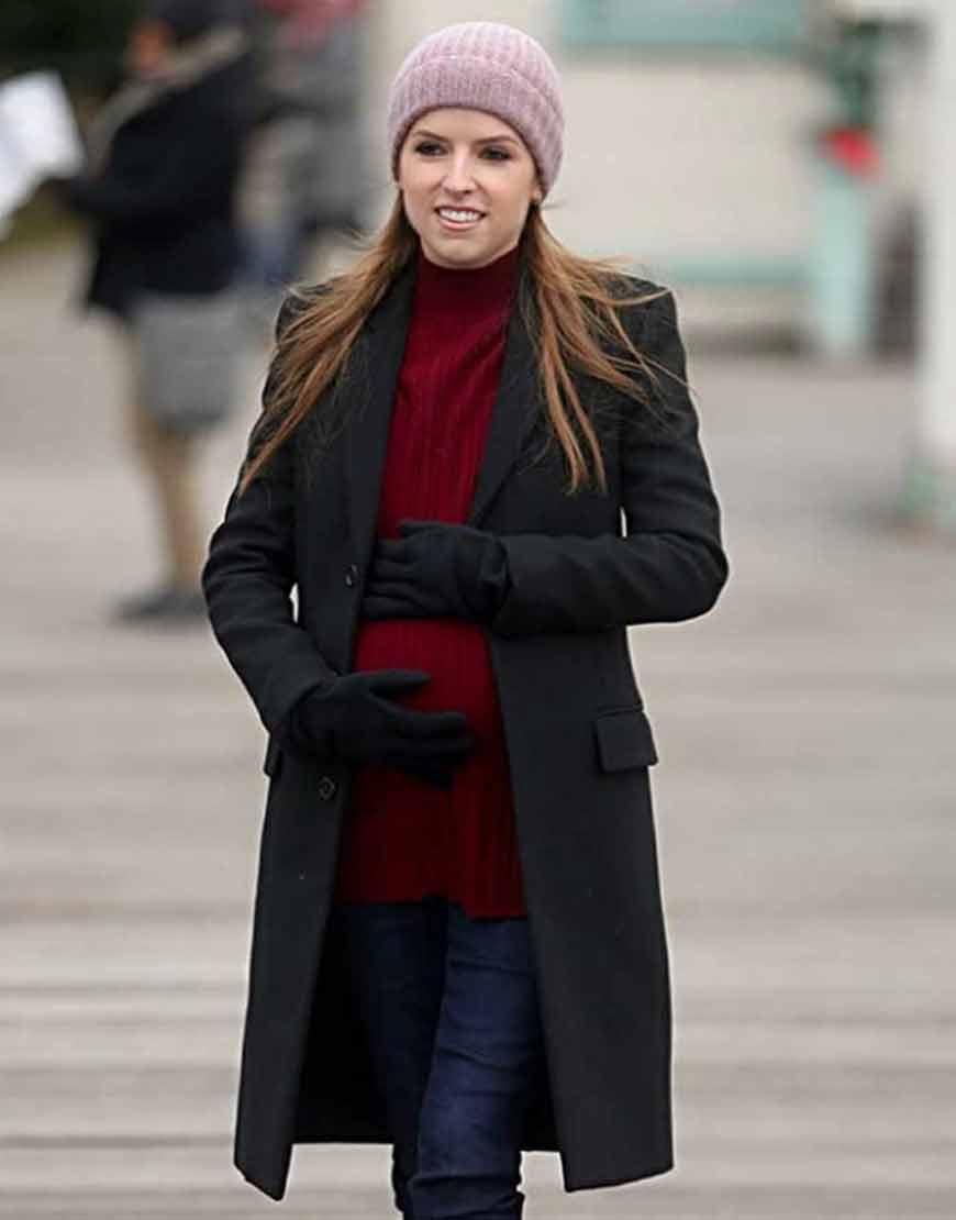 Darby-Love-Life-Anna-Kendrick-Black-WoolBlend-Trench-Coat