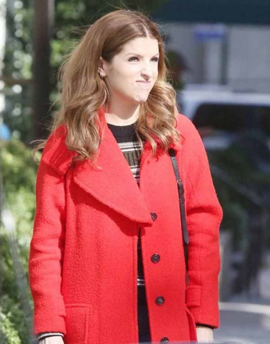 Darby-Love-Life-Anna-Kendrick-Red-Wool-blend-Coat