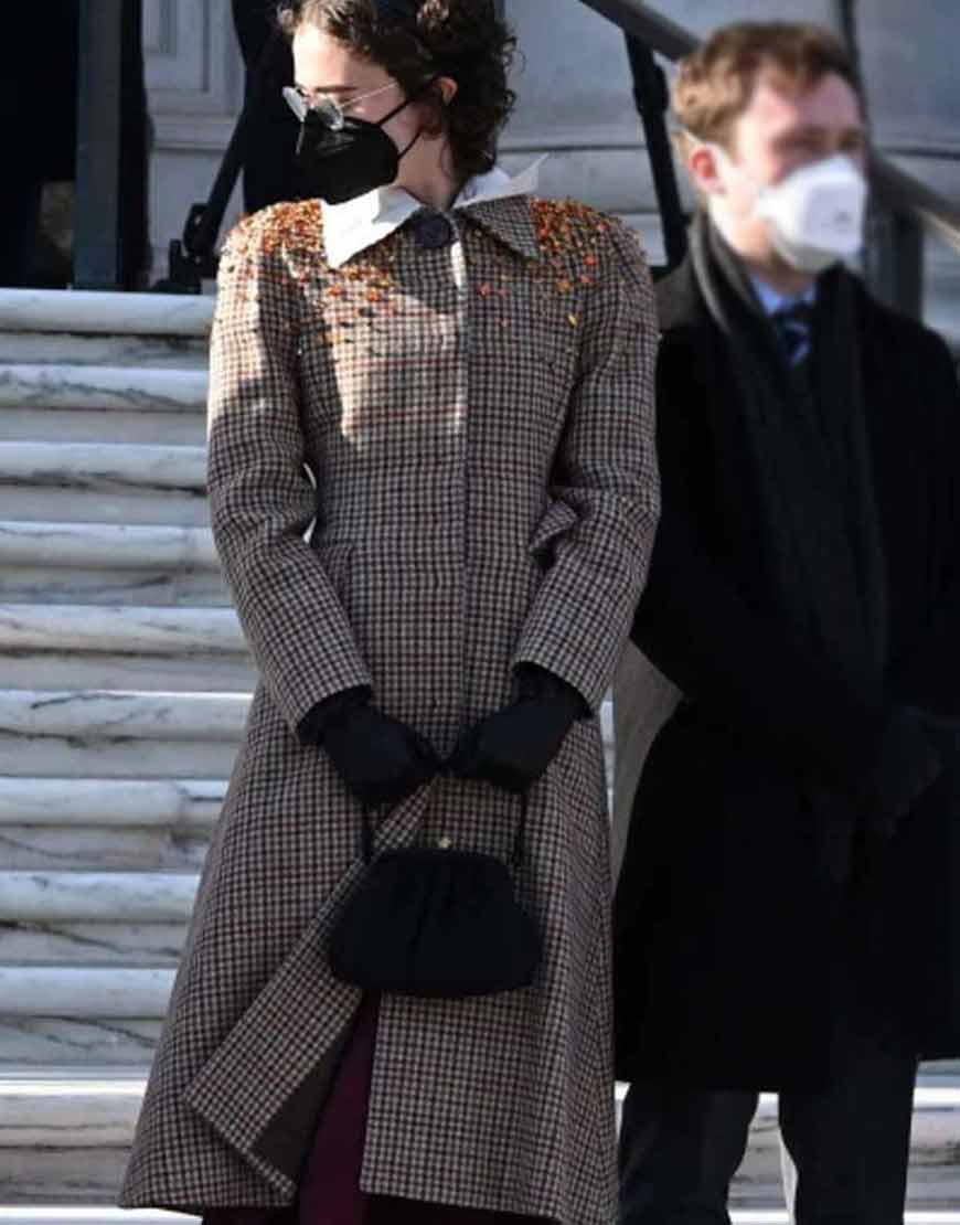 Ella-Emhoff-Checkered-Trench-Coat