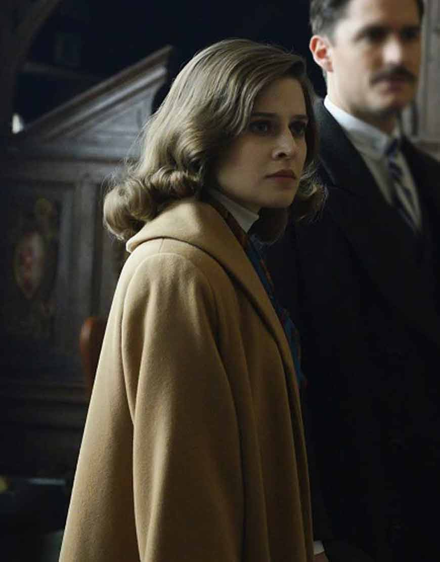 Emma-Paetz-Pennyworth-Martha-Kane-Beige-Trench-Coat