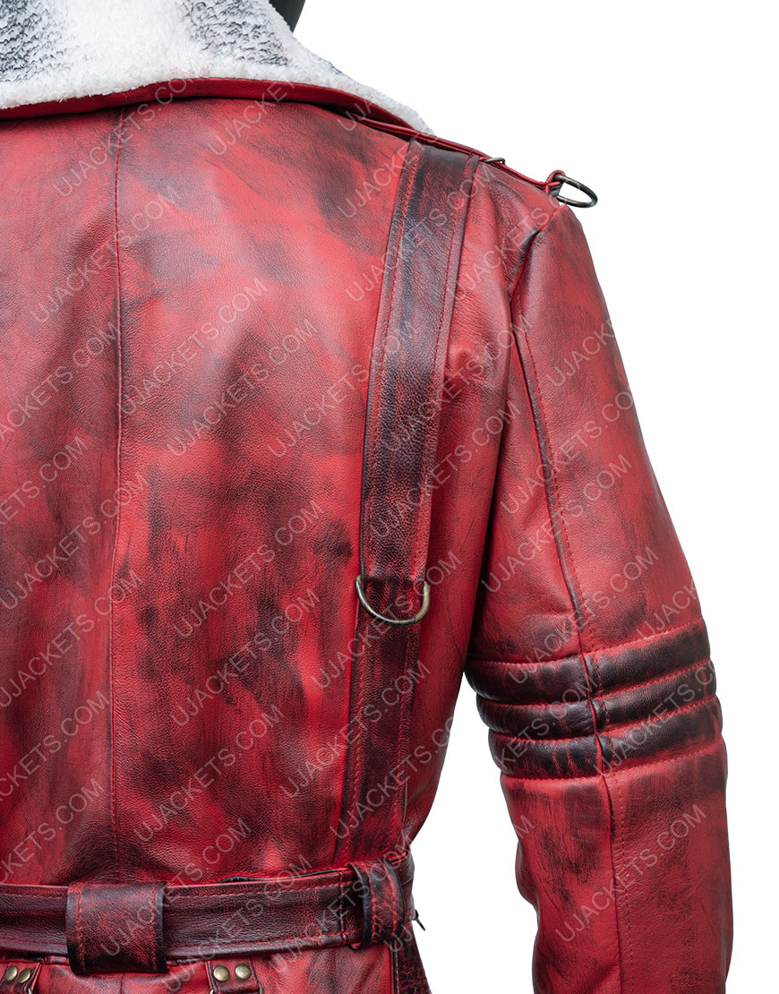 Fallout 4 Nuka Raider Red Leather Trench Coat
