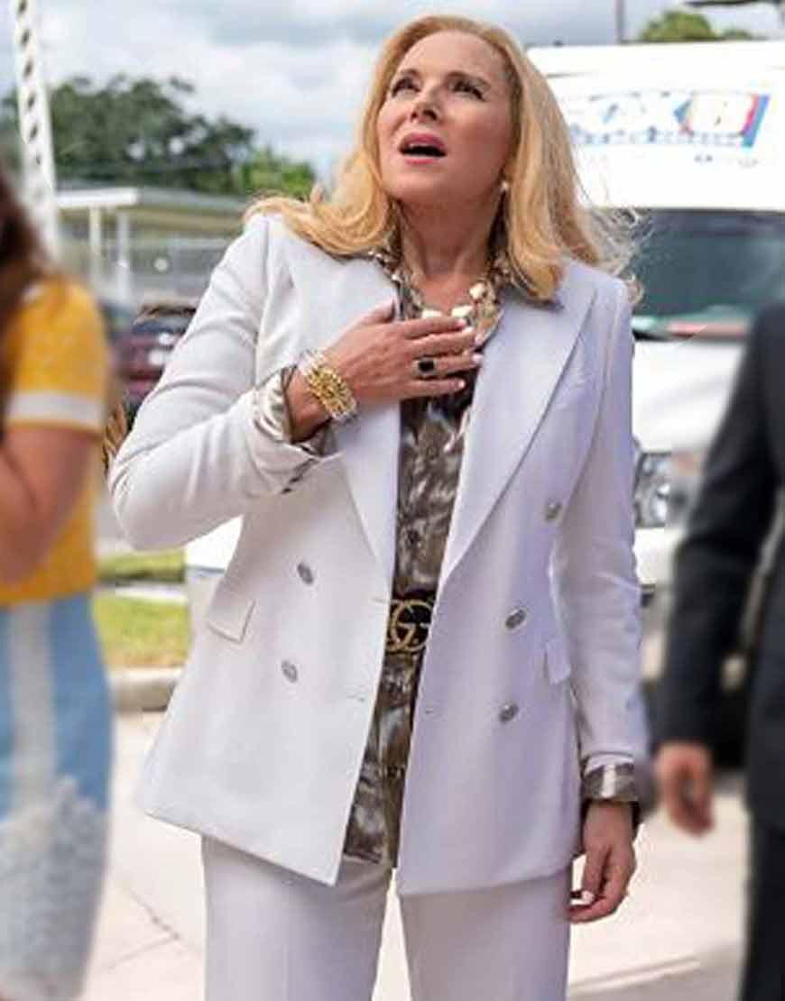 Filthy-Rich-Margaret-Monreaux-White-Blazer-Coat