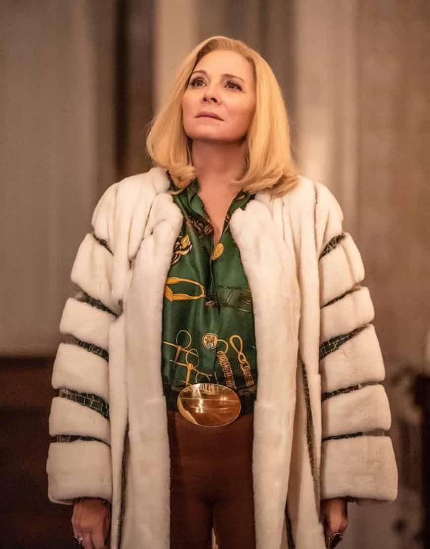 Filthy-Rich-Margaret-Monreaux-White-Fur-Trench-Coat
